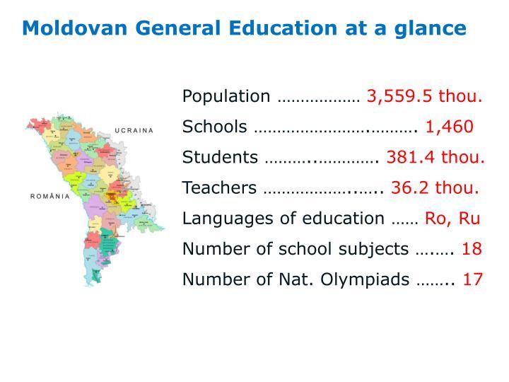 Moldovan general education at a glance