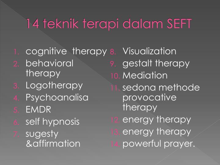 14 teknik terapi dalam seft