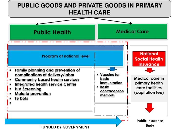 PUBLIC GOODS AND PRIVATE GOODS