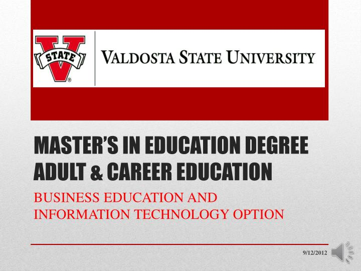 master s in education degree adult career education n.