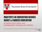 master s in education degree adult career education