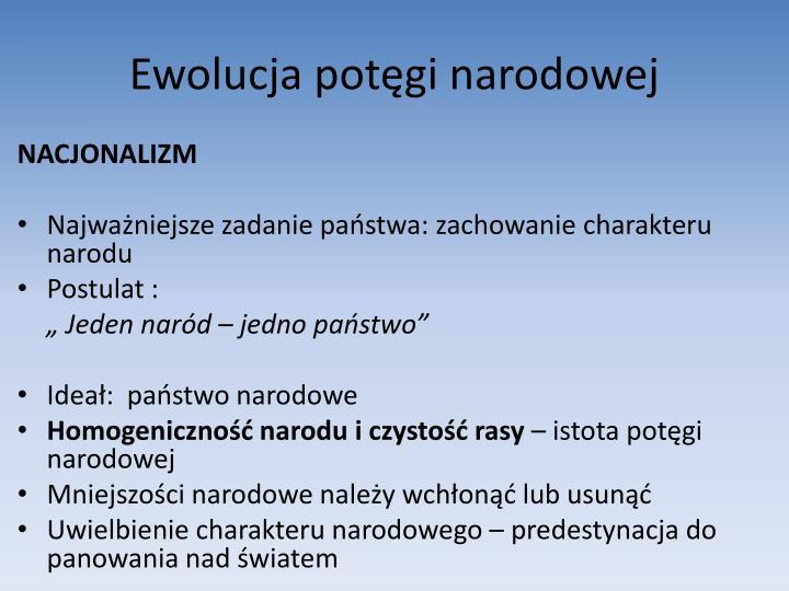 Ewolucja potęgi narodowej