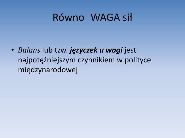 Równo- WAGA sił