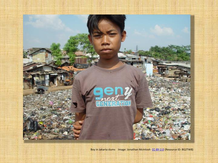 Boy in Jakarta slums