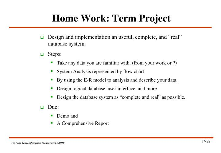 Home Work: Term Project