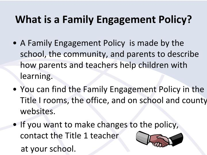 What is a Family Engagement Policy?