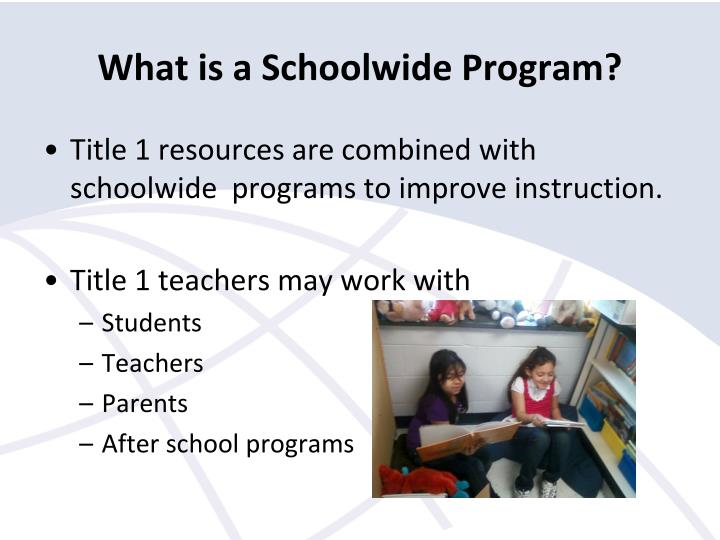 What is a schoolwide program