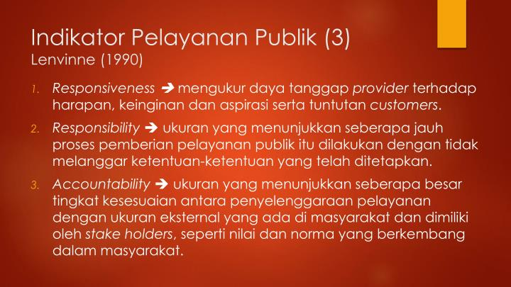 Indikator Pelayanan Publik (3)