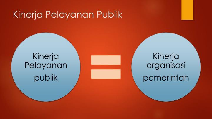 Kinerja pelayanan publik