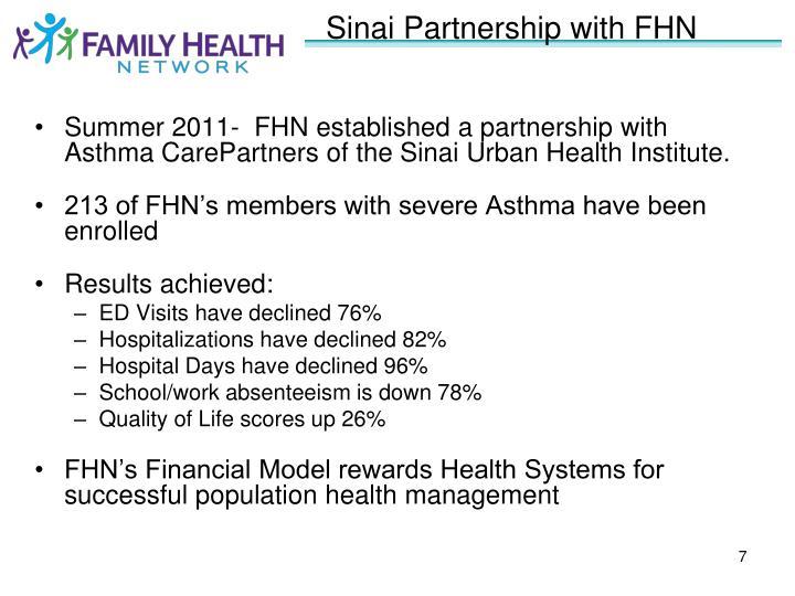 Sinai Partnership with FHN