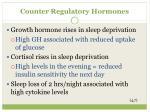 counter regulatory h ormones