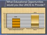 what educational opportunities would you like unos to provide