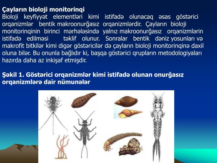 Çayların bioloji monitorinqi