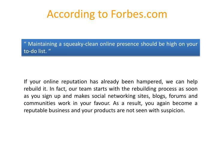 According to Forbes.com