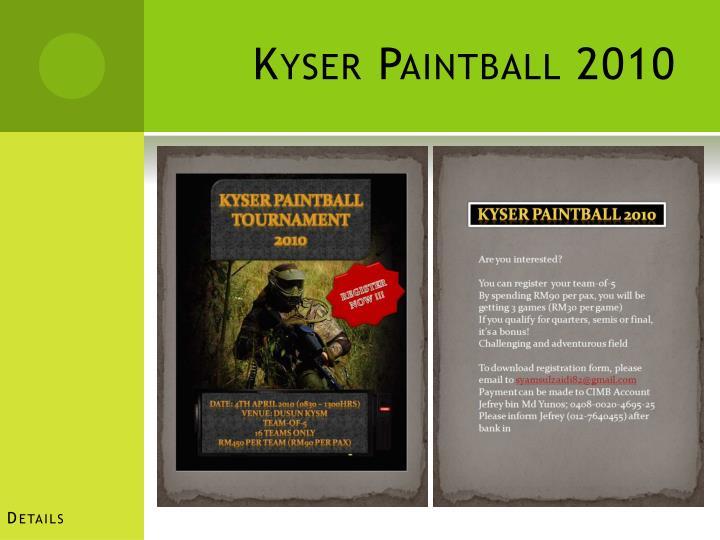 Kyser paintball 2010