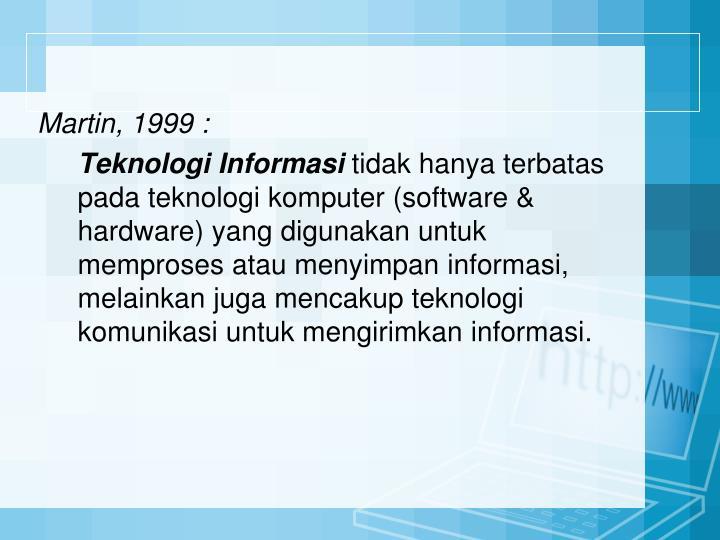 Martin, 1999