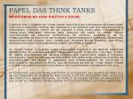 papel das think tanks