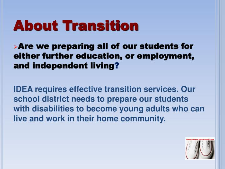 About Transition