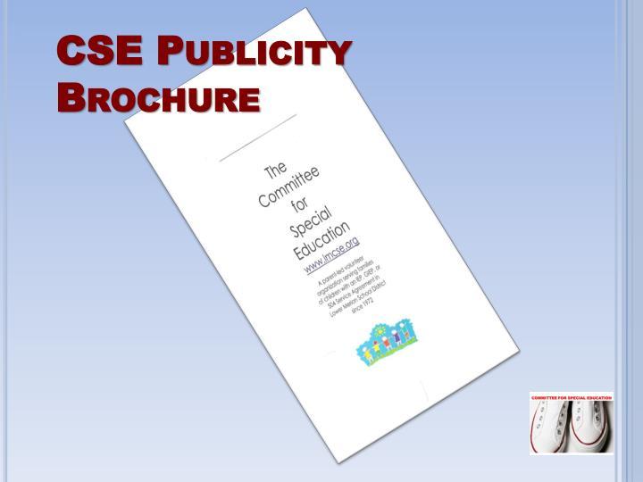 CSE Publicity Brochure
