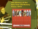 the history of the one year us history class 1910