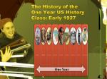 the history of the one year us history class early 1927
