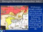 drought monitor september 6th