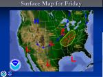 surface map for friday