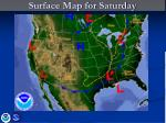 surface map for saturday