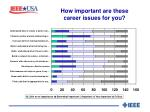 how important are these career issues for you