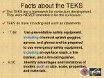facts about the teks