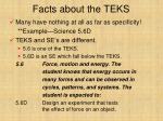 facts about the teks1
