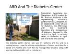 ard and t he diabetes center