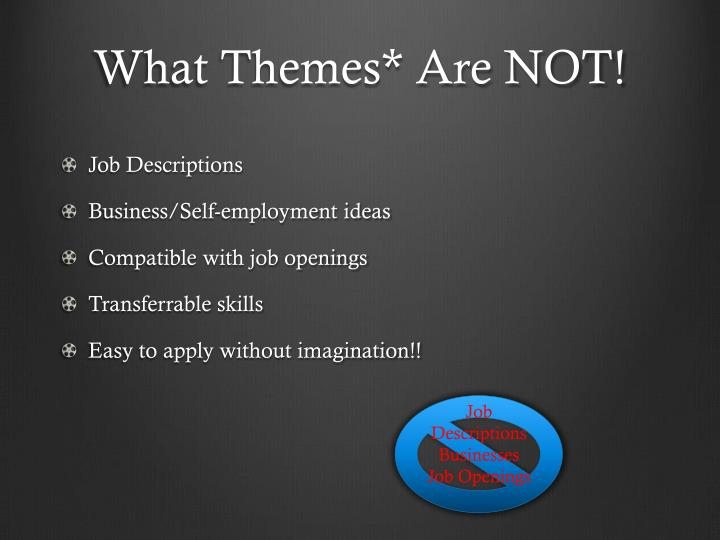 What Themes* Are NOT!