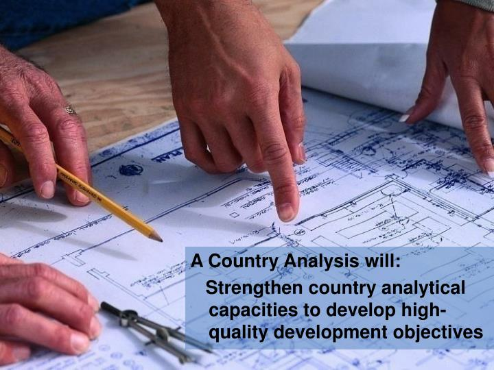 A Country Analysis will: