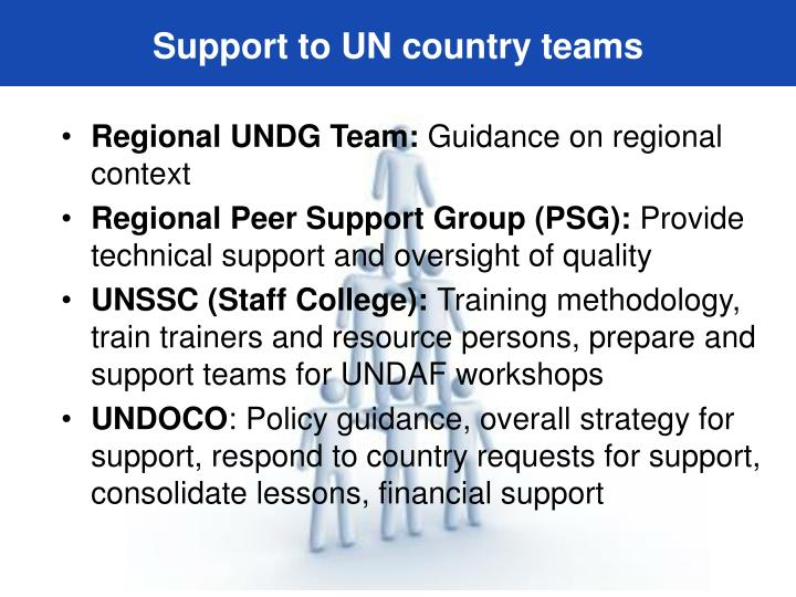 Support to UN country teams