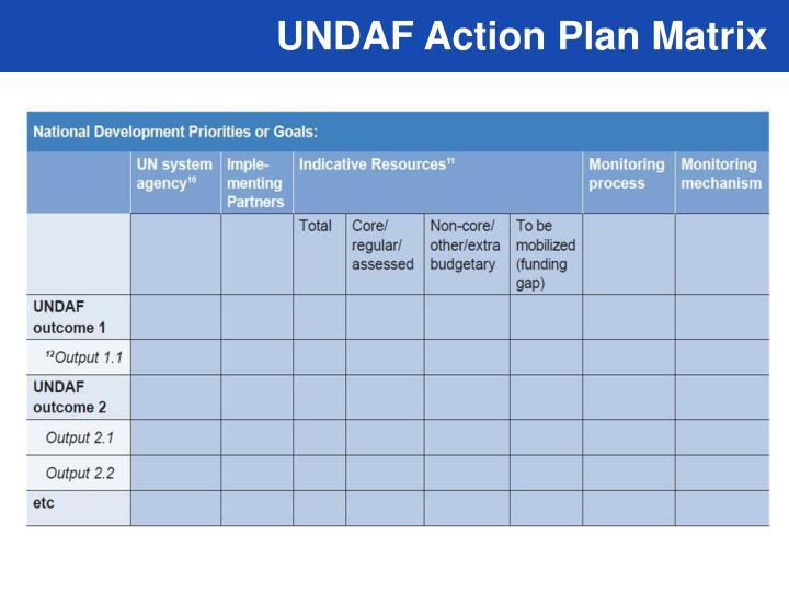UNDAF Action Plan Matrix