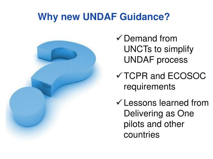 Why new undaf guidance