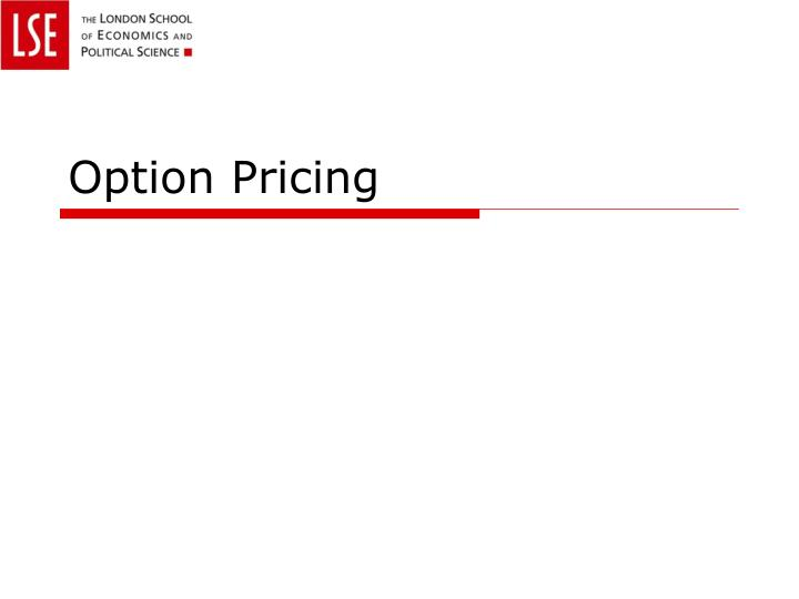 option pricing n.