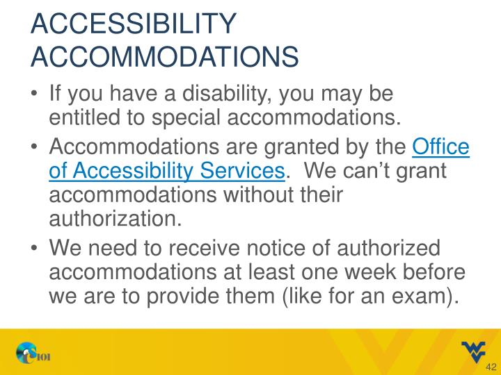 Accessibility Accommodations