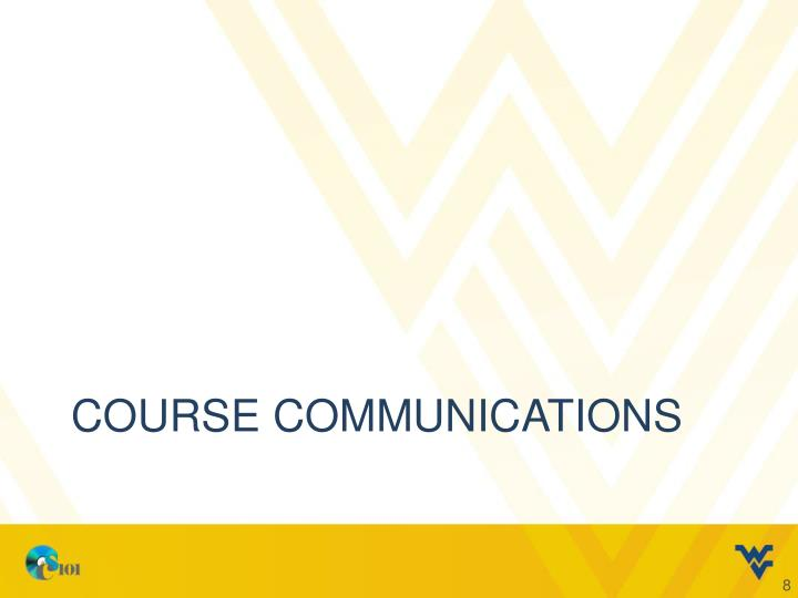 course communications
