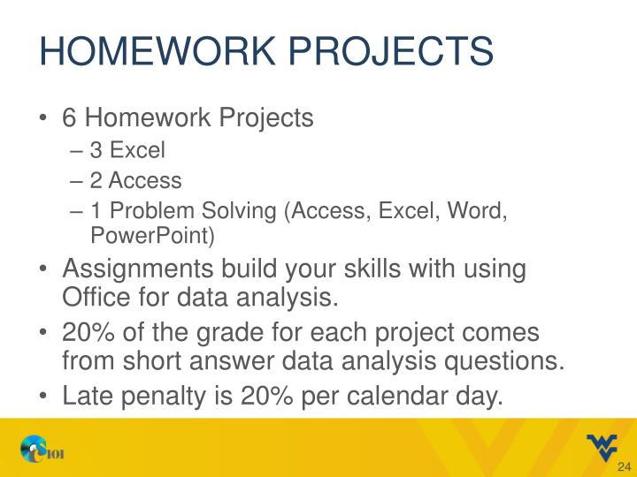 Homework Projects