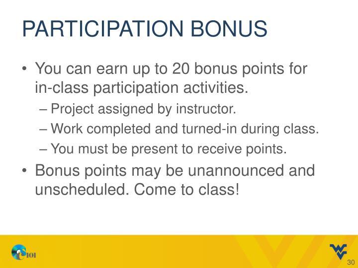 Participation Bonus