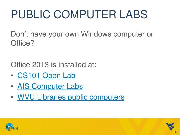 Public computer labs