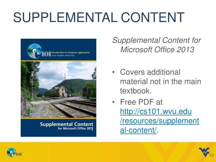 Supplemental Content