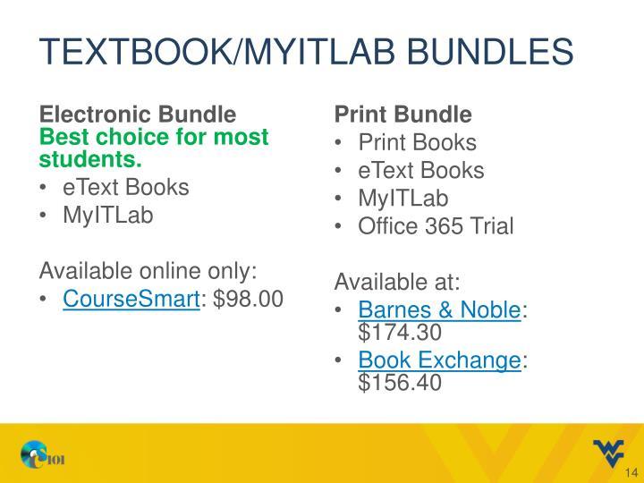 Textbook/MyITLab bundles