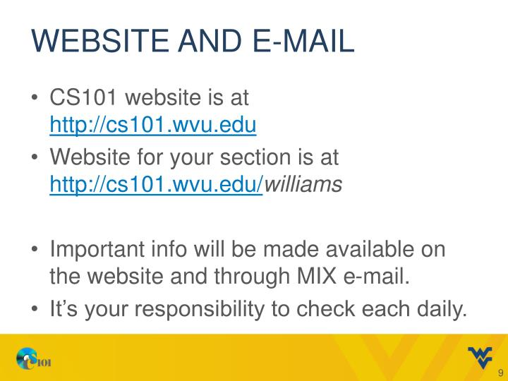 Website and E-mail