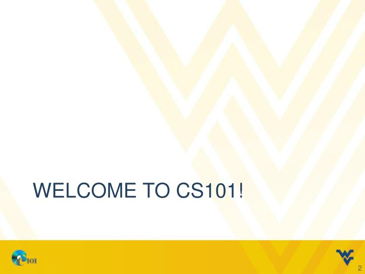 Welcome to cs101