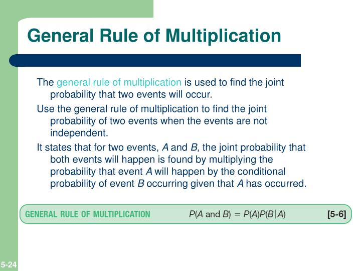 General Rule of Multiplication