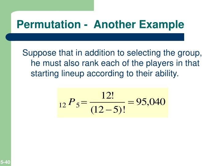 Permutation -  Another Example