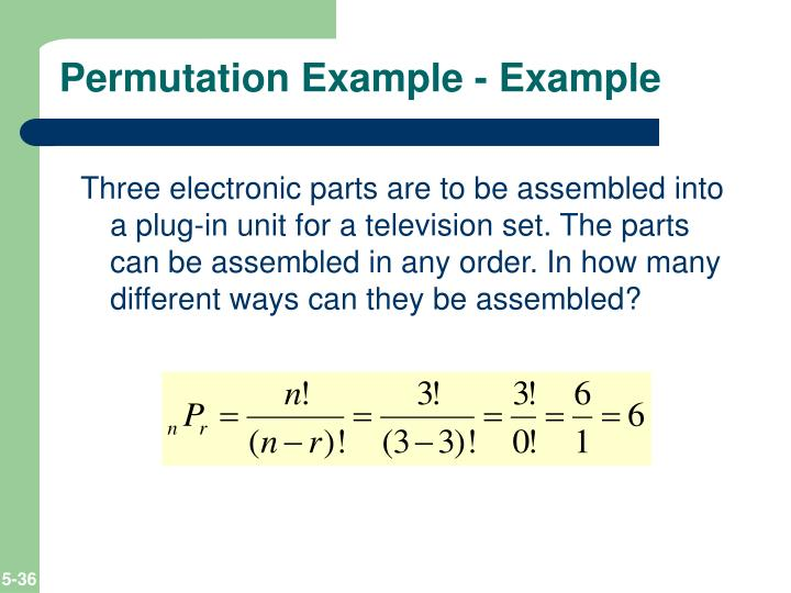 Permutation Example - Example